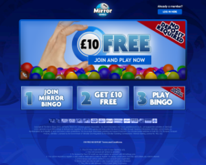 Win up to £1,000 at Mirror Bingo!